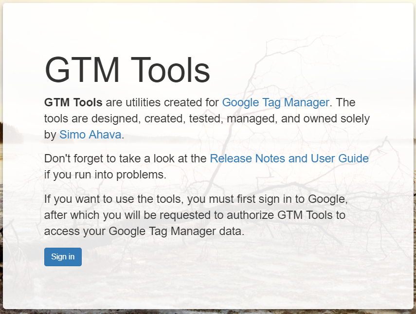 Google Tag Manager Tools