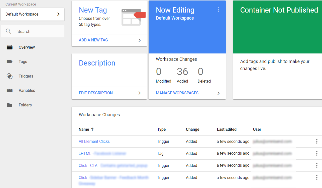 Google Tag Manager cloned container