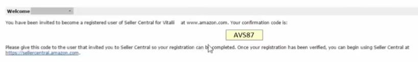Amazon Seller Central code