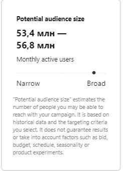 Pinterest Ads audience size