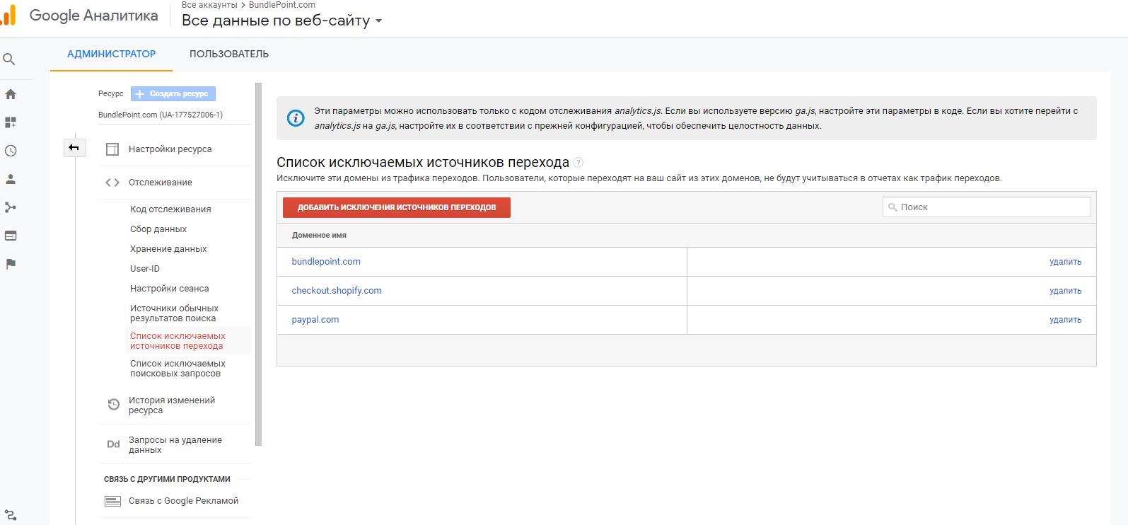 Shopify домены