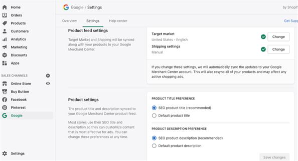 Google в Shopify