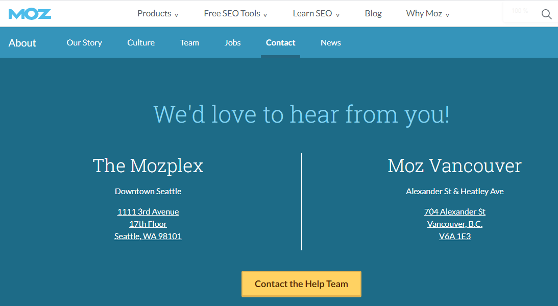 Local SEO contacts
