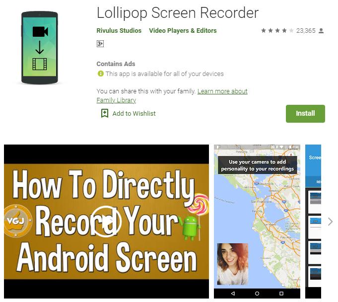 Скачать прямой эфир на андроид Lollipop