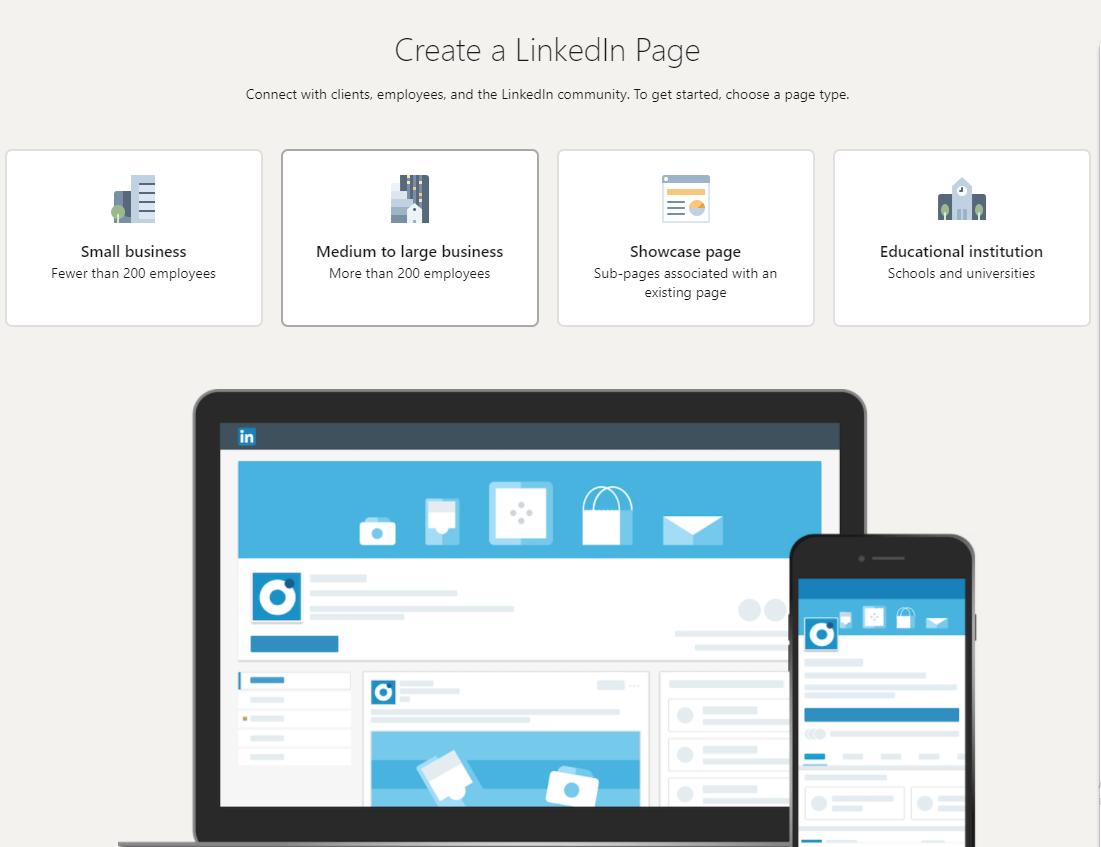LinkedIn создать страницу