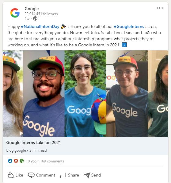 LinkedIn сотрудники Google